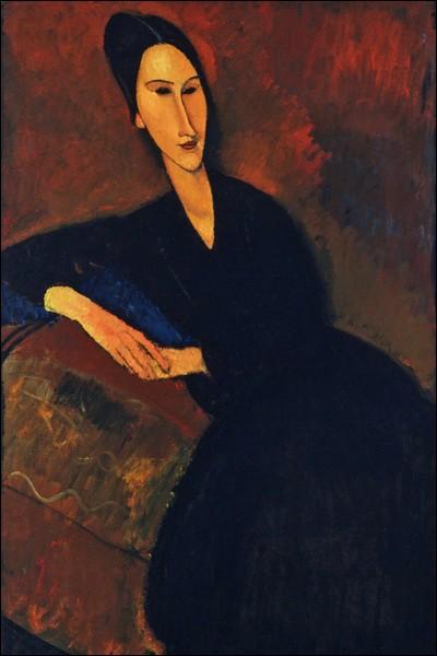 "Amedeo Modigliani ""Anna Zborowska"" (1917). Modèle attitré."