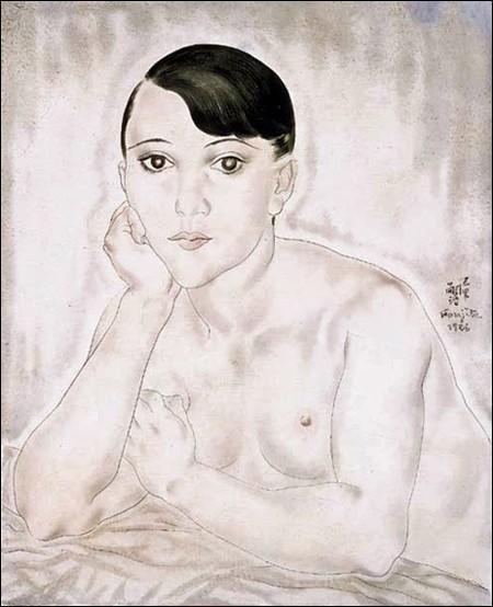 "Tsuguharu Foujita ""..."" (1926). Modèle."