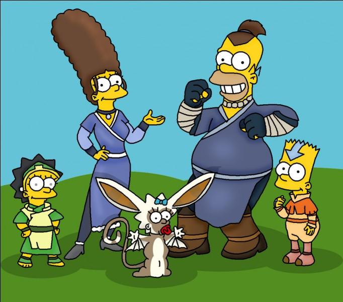La peau de la famille Simpson est :