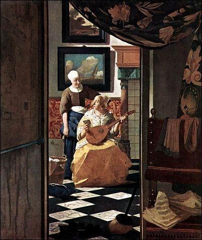 Chaque détail d'une toile de Vermeer compte. Ainsi, dans « La lettre d'amour », on peut y voir, en avant plan, un balai. Quelle en est sa signification ?