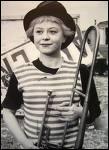 En 1956 je suis Gelsomina dans 'la strada' de Fellini :