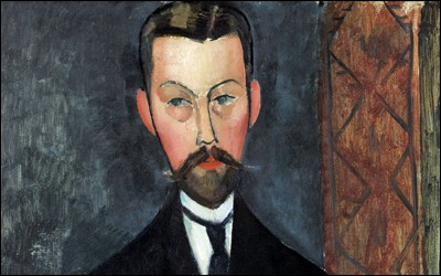 """Amedeo Modigliani """"Portrait ..."""" (1911-12). Son premier mentor (1907 jusqu'à sa mobilisation)."""