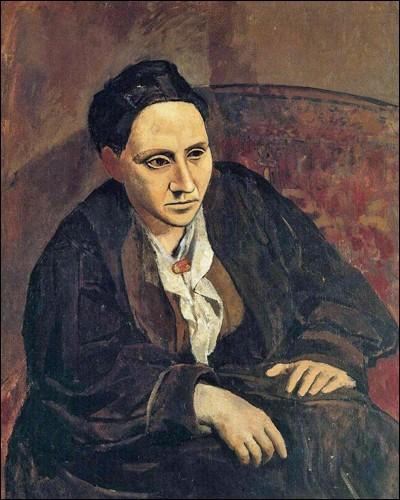 """""""Gertrude Stein"""" (1906). Marchande d'art d'origine américaine, collectionneuse passionnée de l'artiste."""