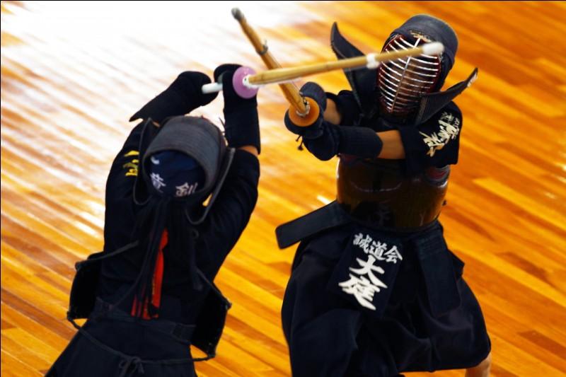 Le kendo est un sport de combat armé :