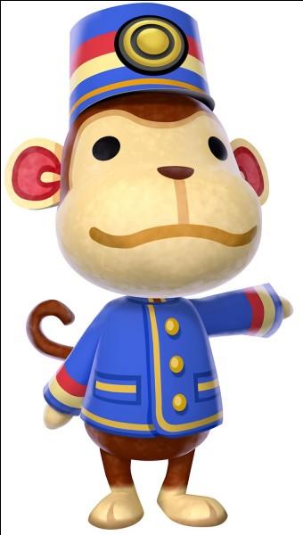 Comment s'appelle le singe qui est responsable de la gare ?