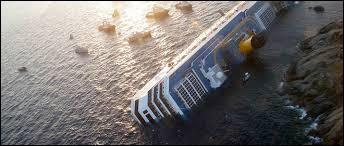 Le naufrage du paquebot de croisière le Costa Concordia survenu en Méditerranée.