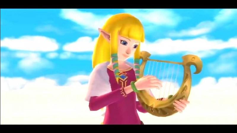 Où se trouve le coffre inutilisé qui contient la harpe de Zelda ?