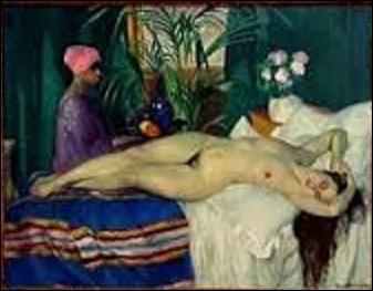 Quel peintre né à Ancenis (Loire-Atlantique) le 10 avril 1877 a peint, en 1920, cette toile intitulée ''Courtisane endormie'' représentant une femme nue, allongée dans une chambre, semblant dormir, une servante passant derrière elle, et actuellement conservée au musée national d'art moderne du centre national d'art et de culture Georges-Pompidou à Paris à la suite d'un achat datant de 1921 ?
