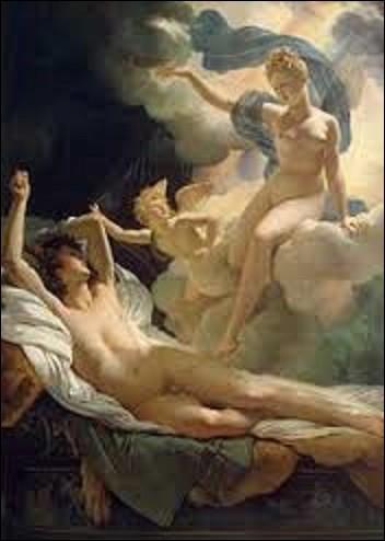 Œuvre s'inspirant de la mythologie grecque, et de pur style néoclassique, cette toile nommée ''Morphée et Iris'', datant de 1811, représente Morphée, Dieu des rêves, alangui, les bras relevés et surpris dans son sommeil par Iris la messagère des dieux, principalement d'Héra, accompagnée d'Éros installé sur un nuage. Pourriez-vous me citer le nom du peintre auteur de ce tableau ?