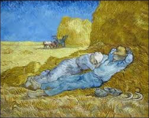 Peinte entre décembre 1889 et janvier 1890 ''La méridienne'' ou ''La sieste'' (d'après Millet) est l'œuvre d'un peintre postimpressionniste et symboliste. Qui est l'auteur de ce chef-d'œuvre ?