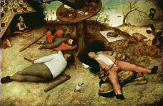 Peinte en 1567 ''Le Pays de Cocagne'' est l'œuvre d'un peintre de mouvement renaissance flamande. Qui a créé cette œuvre ?