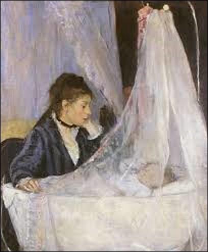 Sans doute le tableau le plus célèbre de cette artiste impressionniste, ''Le berceau'' est une huile sur toile réalisée en 1872. Représentant une de ses sœurs, Edma, veillant sur le sommeil de sa fille, Blanche, c'est la première apparition d'une image de maternité dans l'œuvre de cette femme, sujet qui deviendra l'un de ses thèmes de prédilection. Qui est-elle ?