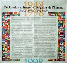 La Déclaration universelle des droits de l'Homme a été signée en :