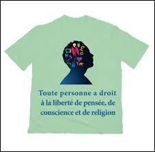 La liberté de conscience implique :