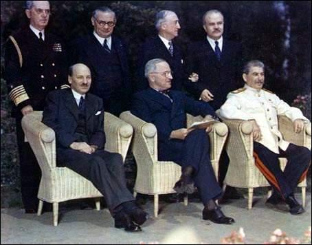 Qui n'a pas participé à la conférence de Potsdam ?