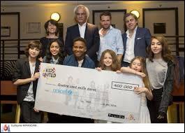A combien s'élevait le chèque que les Kids ont remis à l'UNICEF ?