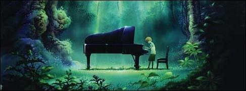 Quel est cet animé racontant l'histoire d'un garçon trouvant un piano dans la forêt ?