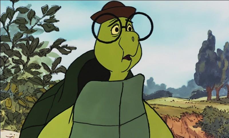 """Comment s'appelle cette tortue peureuse dans """"Robin des Bois"""" ?"""