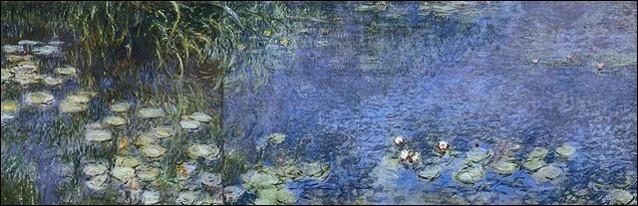 """N - """"Les Nymphéas"""" sont une série de peintures à l'huile élaborées par l'impressionniste français Claude Monet."""