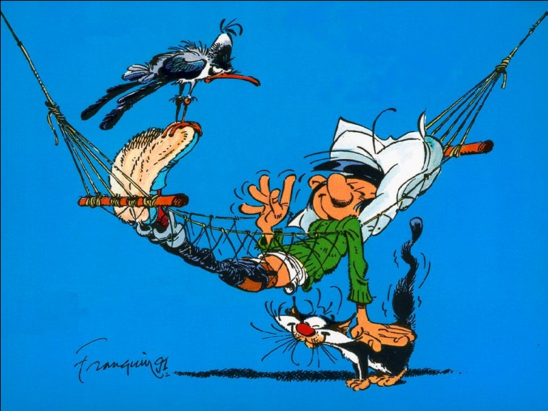 Cette BD a été créée par le dessinateur belge André Franquin. C'est l'anti-héros par excellence !