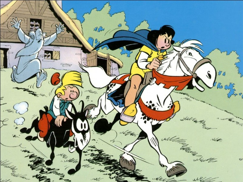 Dans cette bande dessinée, un personnage accompagné d'un nain rêve de devenir chevalier.