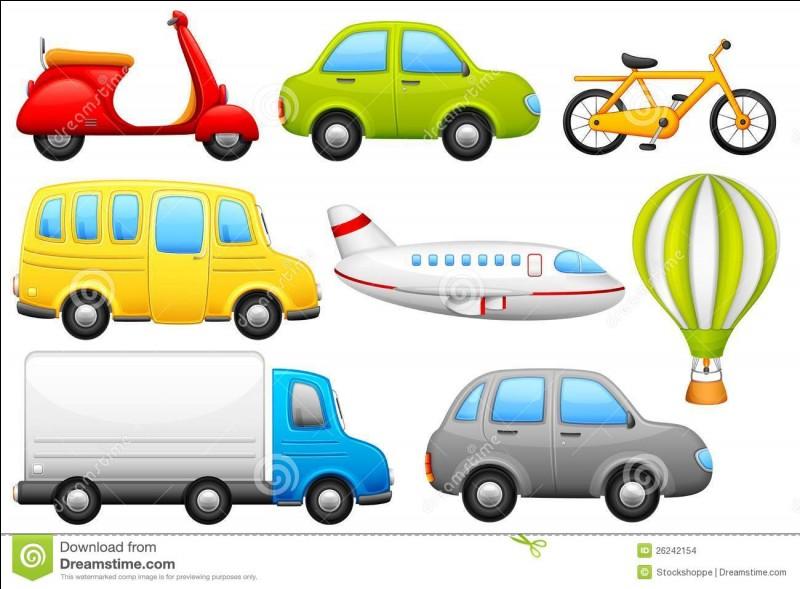 """Que veulent dire les moyens de transport suivants : """"plane"""", """"car"""", """"on foot"""" ?"""