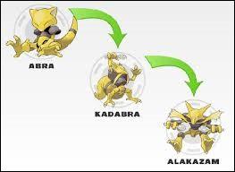 Comment Kadabra évolue-t-il en Alakazam ?