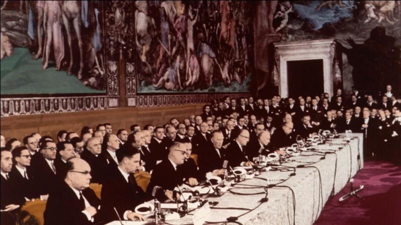 En quelle année a été signé le traité de Rome ?