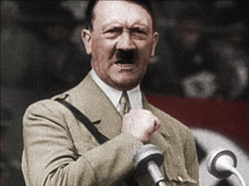 """Si je vous dis """"Hitler au pouvoir"""", vous me dites,..."""