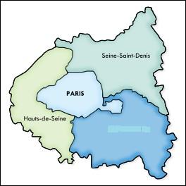 Ces trois départements sont les Hauts-de-Seine, la Seine-Saint-Denis et...