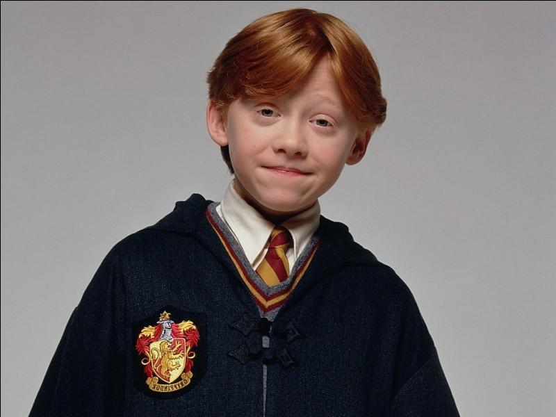 De quelle couleur sont les yeux de Ron ?