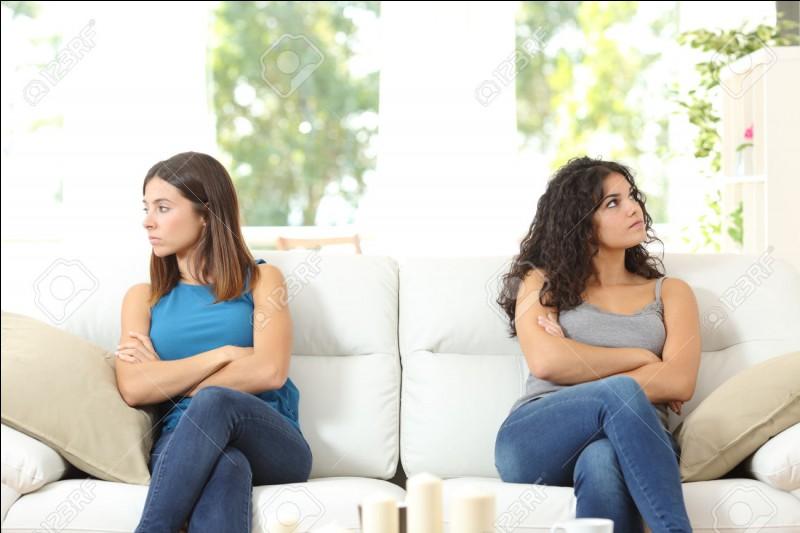 Ton amie a bien vu que tu n'étais pas emballé pour le film et s'énerve. Que fais-tu ?