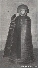 C'était une statue de fer de grandeur naturelle...