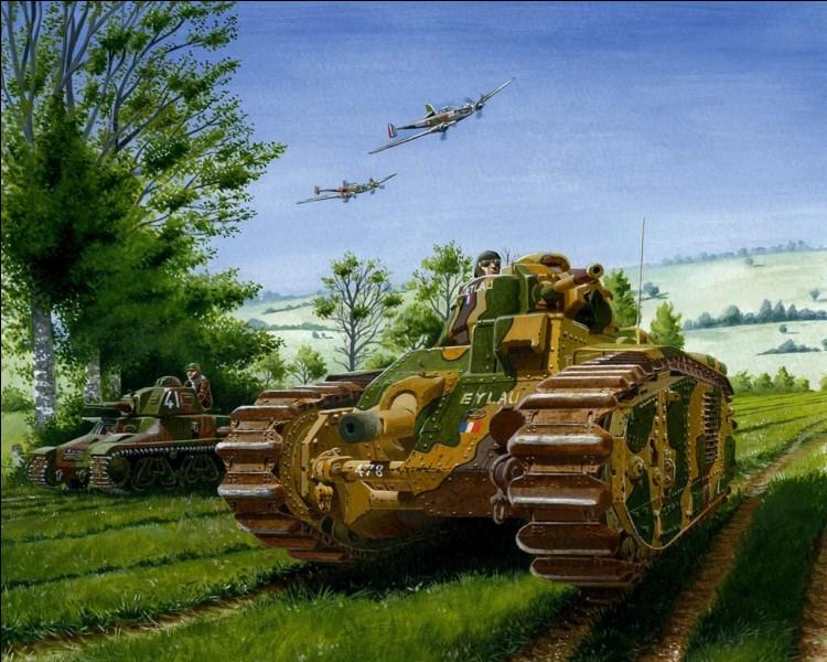Quelle était la seule pièce d'artillerie allemande pouvant percer le blindage du char B1 pendant la Campagne de France ?