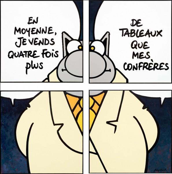 """""""Le Chat"""" est une bande dessinée de Philippe Geluck."""