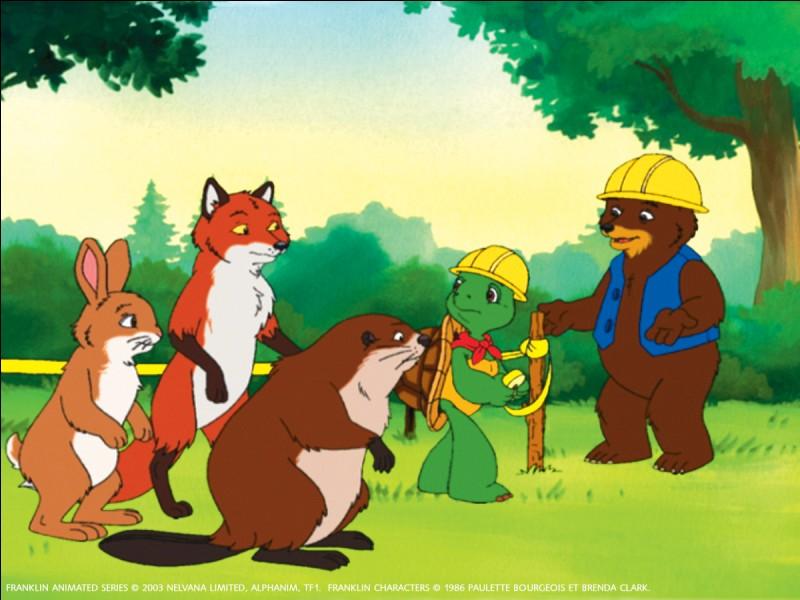 """L'ours dans """"Franklin"""" se nomme Basile."""