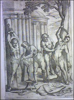 Le bourreau incise soit le dessous des pieds, soit le sommet du crâne, et tire sur la peau pour l'arracher ...
