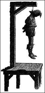 Fait de suspendre une personne, au moyen généralement d'une corde, mais aussi parfois de chaînes, par le cou ou par d'autres parties du corps, soit à des fins de torture, soit en guise de peine de mort...