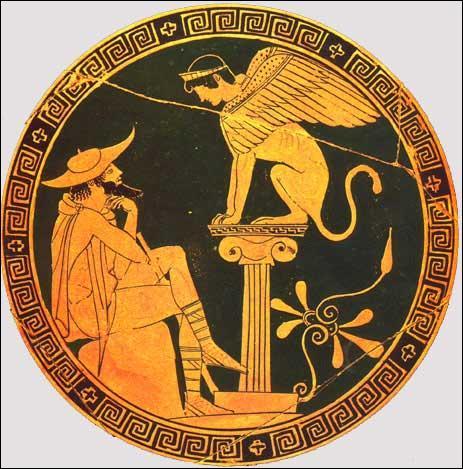 Créature ailée possédant un corps de lion surmonté d'une tête et d'un buste de femme.