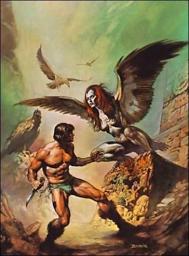 Elles ont un corps ailé d'oiseau et une tête de femme.