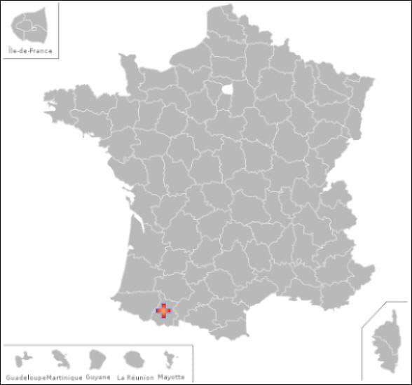 Dans ce département vous pourrez visiter les communes de : Aveux , Bizous et Trie sur Baise
