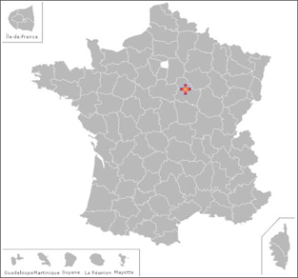 Dans ce département vous pourrez visiter les communes de: Jouy  et  Sainte Vertu
