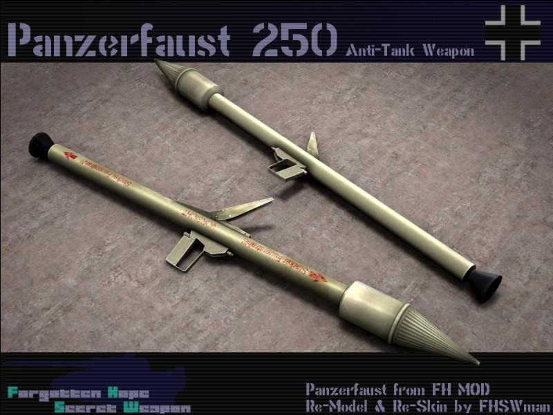 Ceci est un Panzerfaust 250. Mais quel autre lance-roquettes inspira-t-il ?