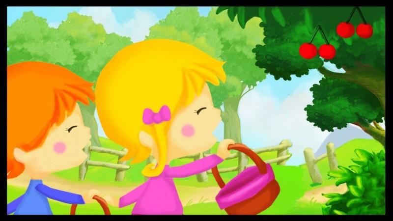 J'adore cueillir des cerises !