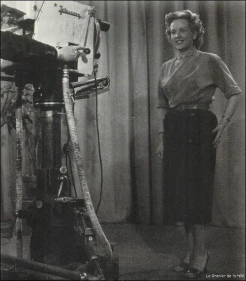 En 1951, quel est le nom de cette speakerine qui fut, à l'époque, la plus populaire ?