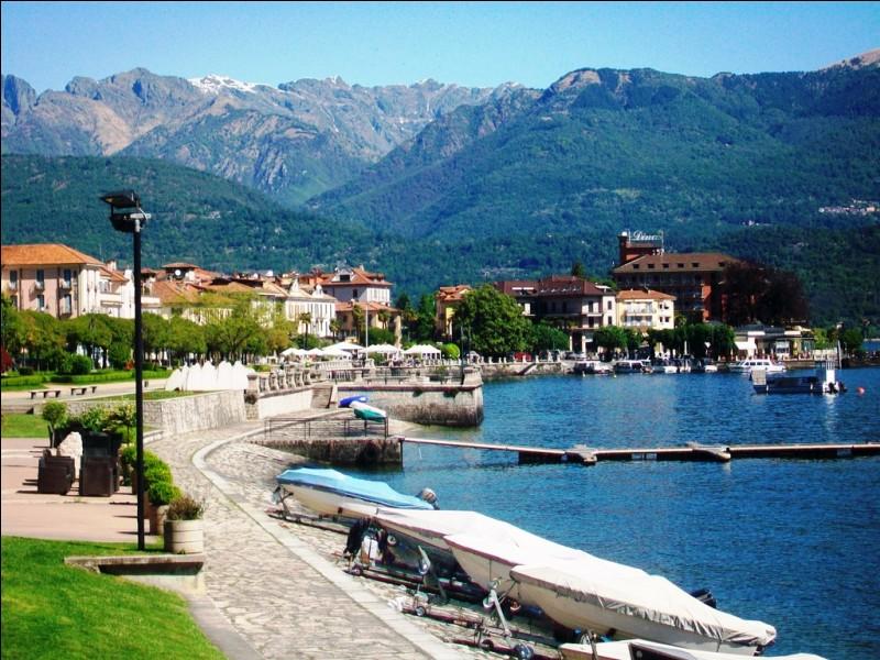 Parmi ces villes, laquelle ne se situe pas sur les rives du lac Majeur ?
