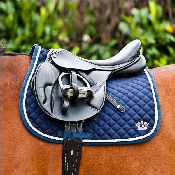 Que met-on sous la selle pour ne pas blesser le cheval ?