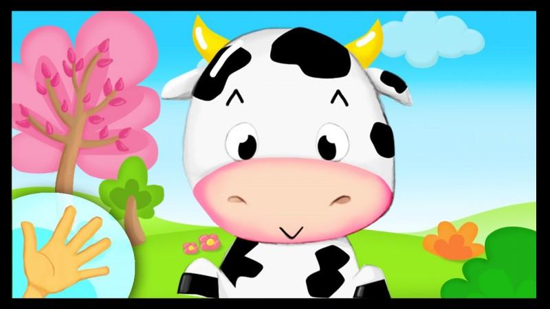 La vache boit du lait.