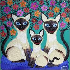 Quelle race de chats est représentée sur cette image naïve ?