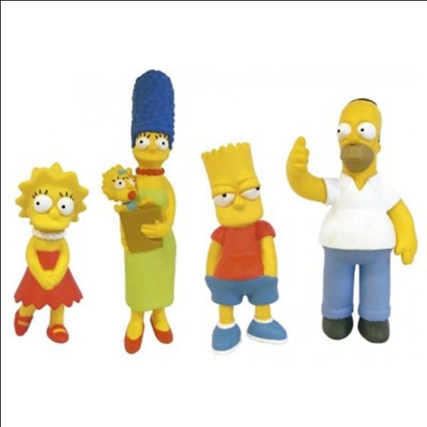 Quels sont les prénoms des enfants Simpson ?